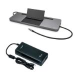 i-tec Metal USB-C Ergonomic 4K 3x Display Docking Station with Power Delivery 85 W + Universal Charger 112 W