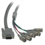 "C2G Premium HD15M to 5-BNC Male Video Cable 6ft 72"" (1.83 m) VGA (D-Sub)"