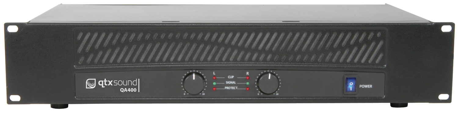 Qtx 172.020UK 2.0channels Performance/stage Wired Black audio amplifier