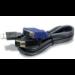 Trendnet 2.8m USB/VGA KVM cable para video, teclado y ratón (kvm) 2,8 m Negro
