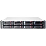 Hewlett Packard Enterprise MSA 1040 2-port SAS Dual Controller LFF Rack (2U) Black,Grey disk array