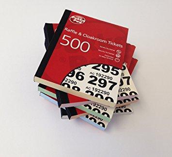 Pukka Value Cloakroom-Raffle Ticket Numbers 1-500 RAF500 - (PK6)