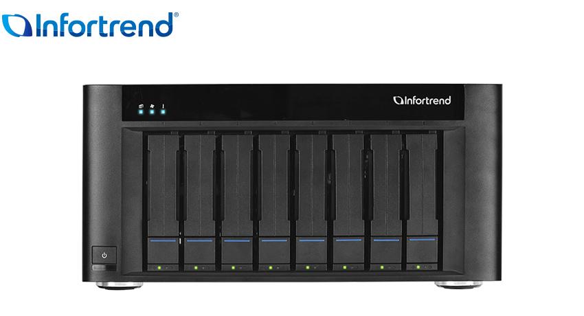 Infortrend 8 Bay Ent Desk Pro 32TB NAS