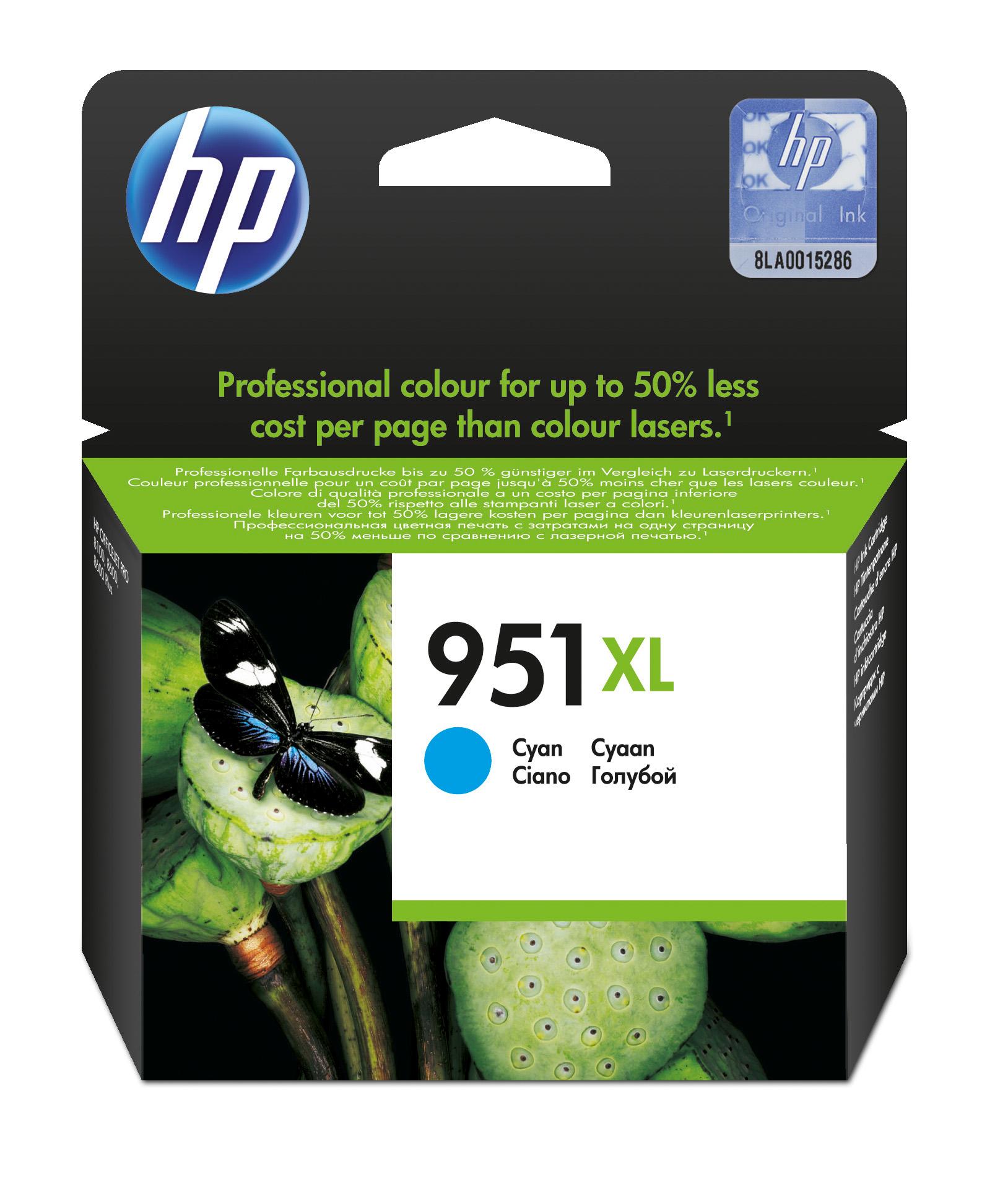 HP 951XL Original Cian 1 pieza(s)