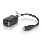 C2G 20cm Mini DisplayPort to HDMI Adapter - Thunderbolt to HDMI Converter M/F - Black