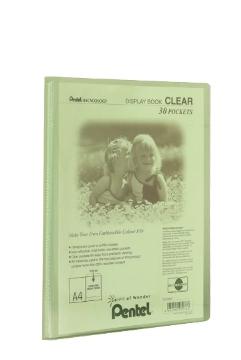 Pentel Display Book Clear personal organizer Green