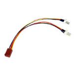 SmartTeck 3-Pin Fan (F) to 2 x 3-Pin Fan (M + M) 0.15m OEM Internal Splitter Cable