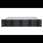QNAP TS-1283XU-RP E-2124 Ethernet LAN Rack (2U) Aluminum, Black NAS TS-1283XU-RP-E2124-8G/144TB-EXOS