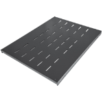 "Intellinet 19"" Fixed Shelf, 1U, 600mm Depth, Heavy-Duty, Max 100kg, Black"
