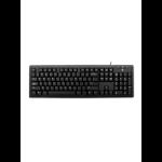V7 KU200GS-DE Wired Keyboard, Black German QWERTZ Layout, TUV-GS