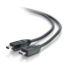 C2G USB 2.0, C - Mini B, 3m cable USB USB C Mini-USB B Negro