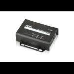 Aten VE801R AV extender AV receiver Black