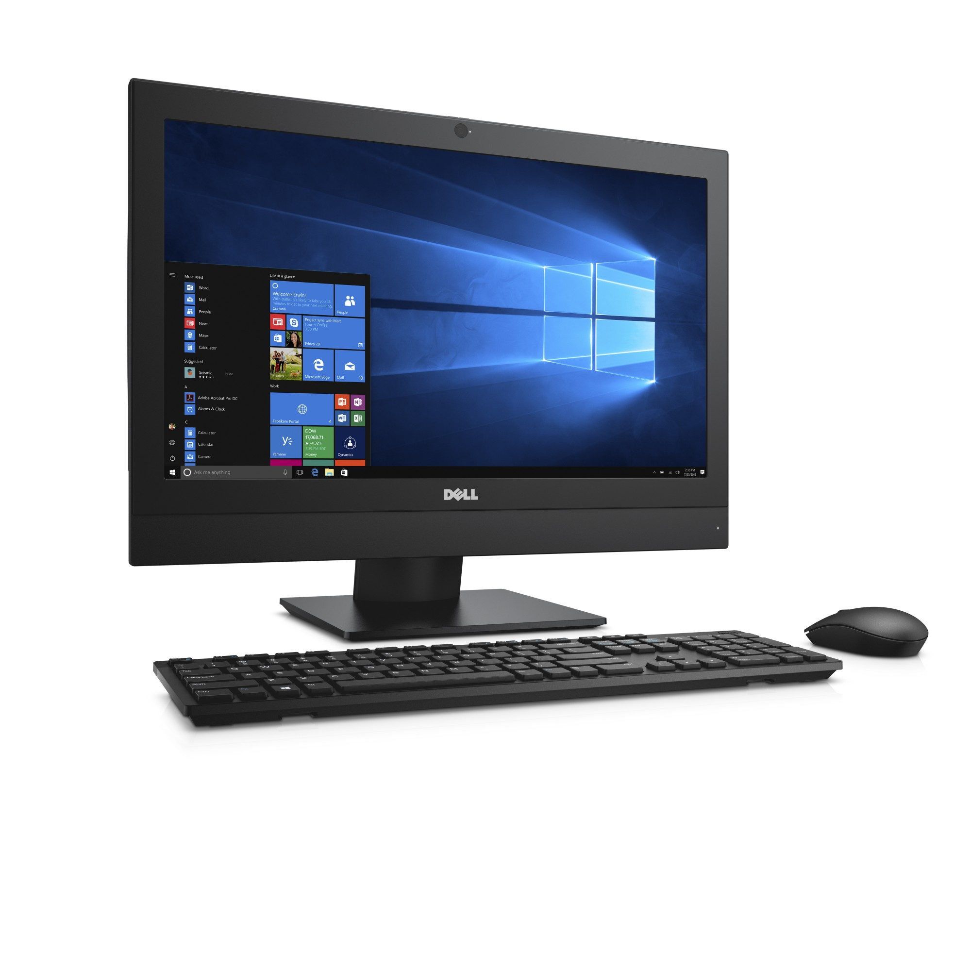 """DELL OptiPlex 5250 3.4GHz i5-7500 21.5"""" 1920 x 1080pixels Touchscreen Black All-in-One PC"""