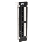 Tripp Lite 12-Port Wall-Mount Cat5e Patch Panel, 568B, RJ45 Ethernet