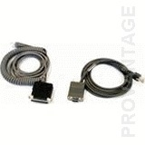 "Datalogic RS-232, DB9S, 12', Coiled 9 pin ""D"""