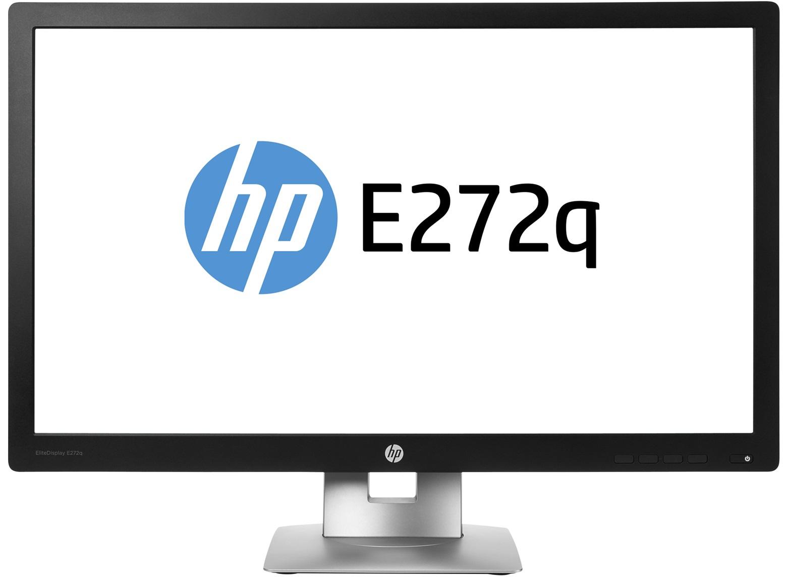 """HP EliteDisplay E272q 27"""" Wide Quad HD IPS Matt Black,Silver"""
