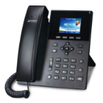 PLANET High Definition Color POE IP phone Black 6 lines LCD