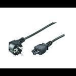 Microconnect PE010818 power cable Black 1.8 m CEE7/7 C5 coupler