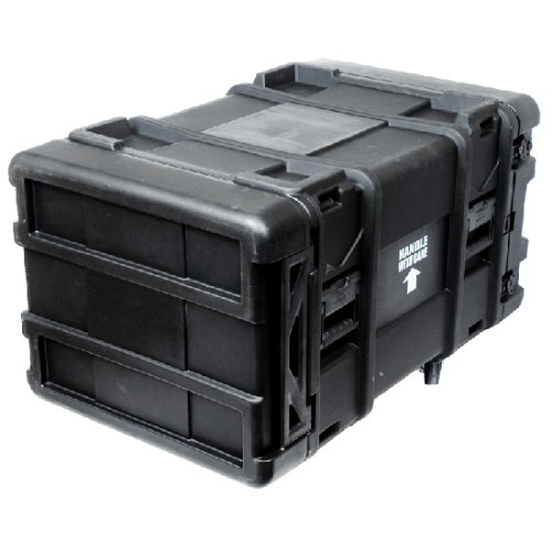 RackSolutions RACK-TRANSPORT-30-6 rack cabinet 6U Freestanding rack Black