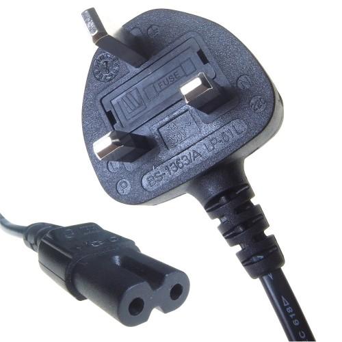 Connekt Gear 2m UK M / C7 power cable Black C7 coupler BS 1363