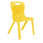 Titan 1 Piece 310mm Yellow Chair Pack 10
