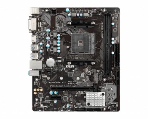 MSI A320M-A PRO MAX motherboard Socket AM4 Micro ATX AMD A320