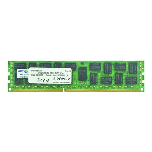 2-Power 8GB DDR3 1333MHz ECC RDIMM 2Rx4 LV