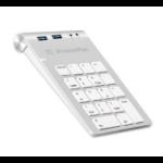 XtremeMac XM-NPHUB32-AU-SLV numeric keypad USB Notebook/PC Silver, White