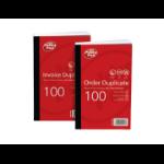 Pukka Value Duplicate Invoice Book PrePrinted VAT 210x130mm PK5