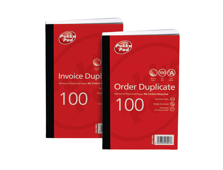 Pukka Value Duplicate Invoice Book PrePrinted VAT 210x130mm PK5