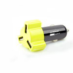 mBeat 4.8A 24W Triple-port Rapid Yellow Car Charger