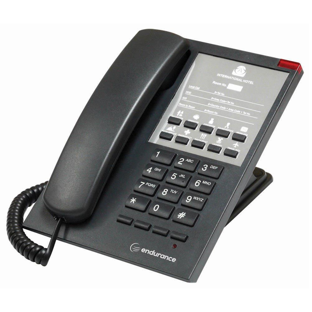 Endurance 20 / Corded Handset / Black / Analogue