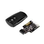 Silverstone ES02-USB remote control RF Wireless Black Press buttons