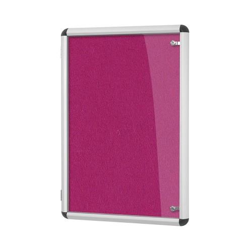 Metroplan Shield Design insert notice board Indoor Aluminium, Magenta Aluminium