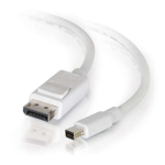 C2G 1m Mini DisplayPort to DisplayPort Adapter Cable 4K UHD - White