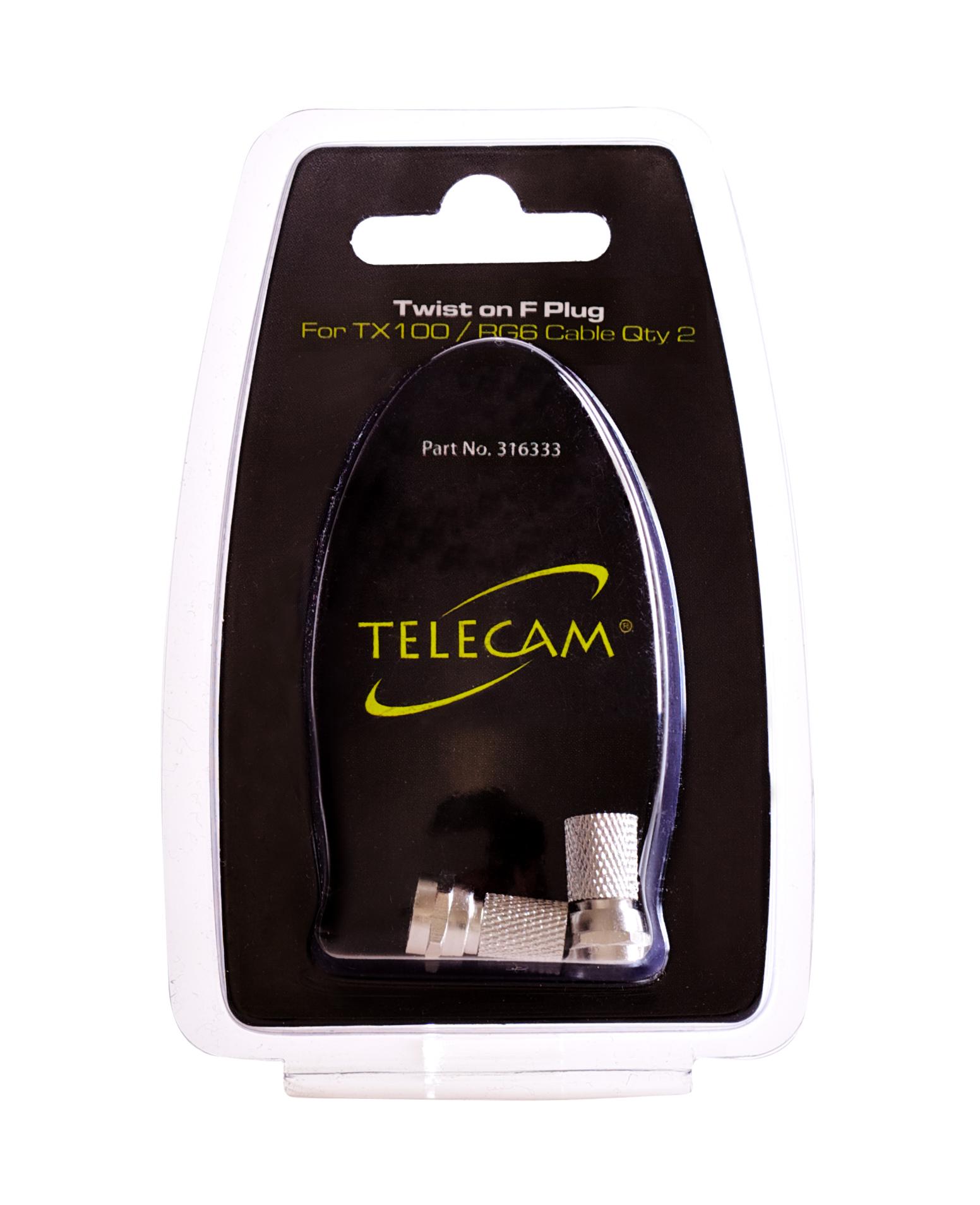 TELECAM Twist On F Plug 2Pk