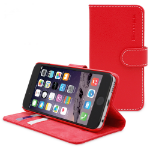 """TheSnugg B0151OJRA8 5.5"""" Wallet case Red mobile phone case"""