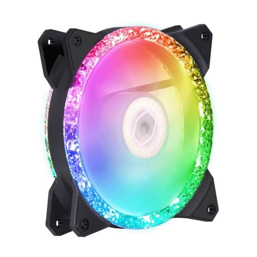 Cooler Master MasterFan MF120 Prismatic 3 IN 1 Computer case Fan 12 cm Black 3 pc(s)
