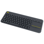 Logitech K400 Plus keyboard RF Wireless QWERTY Pan Nordic Black