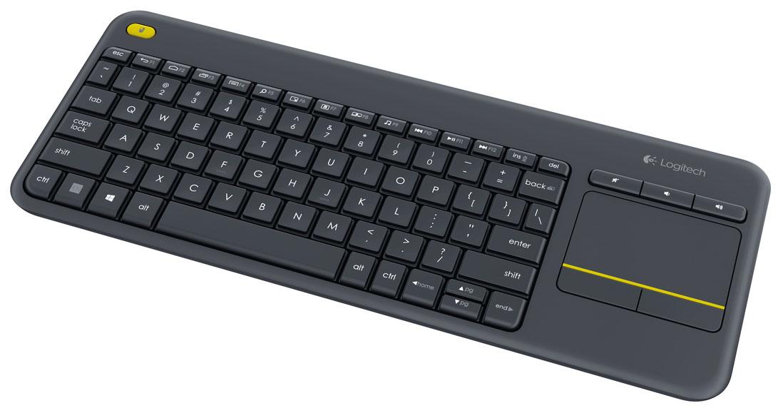 Logitech K400 Plus keyboard RF Wireless QWERTY Pan Nordic Black