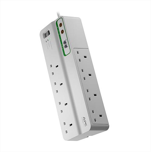 APC SurgeArrest limitador de tensión 8 salidas AC 230 V 3 m Blanco