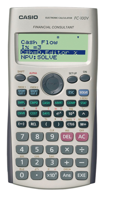 Pocket Financial Grey calculator (FC-100V-S-UH)