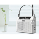 Sangean PR-D6 Portable Analog White Clock/Portable Radio