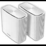 ASUS ZenWiFi AC (CT8) wireless router Tri-band (2.4 GHz / 5 GHz / 5 GHz) Gigabit Ethernet White ZenWiFi CT8 2 pack WHITE