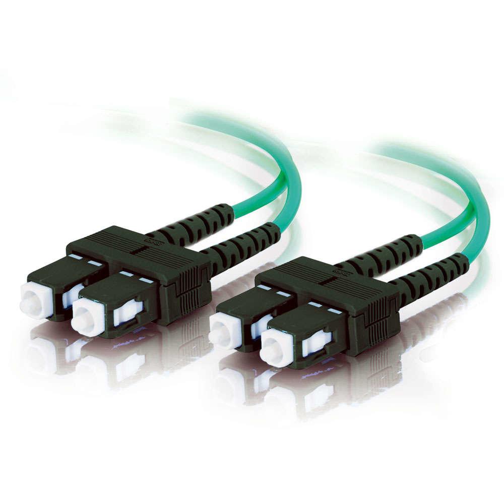 C2G 85518 10m SC SC Turquoise fiber optic cable