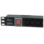 Dynamode PDU-8WS-H-SP-IEC-UK power distribution unit (PDU) 1U Black 8 AC outlet(s)