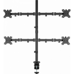 "Vision VFM-DPQ2B flat panel desk mount 68.6 cm (27"") Clamp Black"