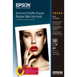 Epson Archival, DIN A4, 192 g/m² Fotopapier Weiß Matte