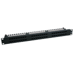 Tripp Lite 48-Port 1U Rack-Mount Cat6 High Density 110 Patch Panel, 568B, RJ45 Ethernet patch panel