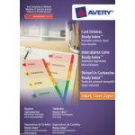 Avery ReadyIndex 1-20 divider Multicolour Cardboard